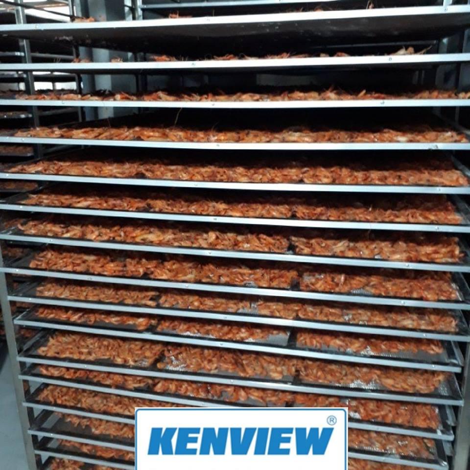 Máy sấy tôm khô Bạc Liêu công suất 1 tấn /mẻ