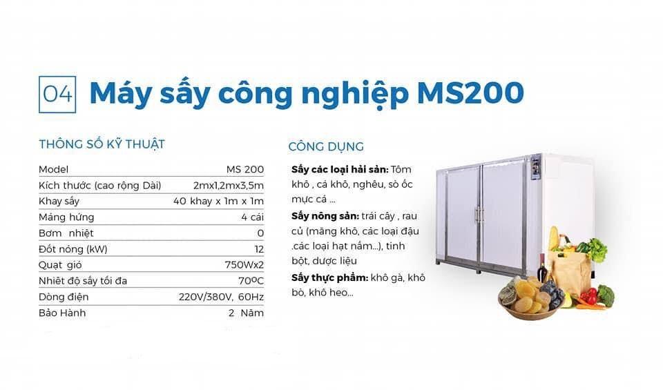 Máy sấy công nghiệp MS 200