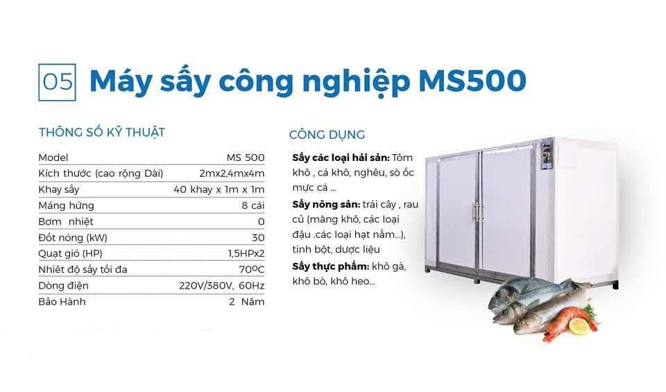 Máy sấy công nghiệp MS 500
