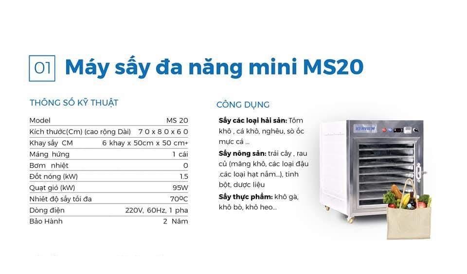 Máy sấy công nghiệp MS 20