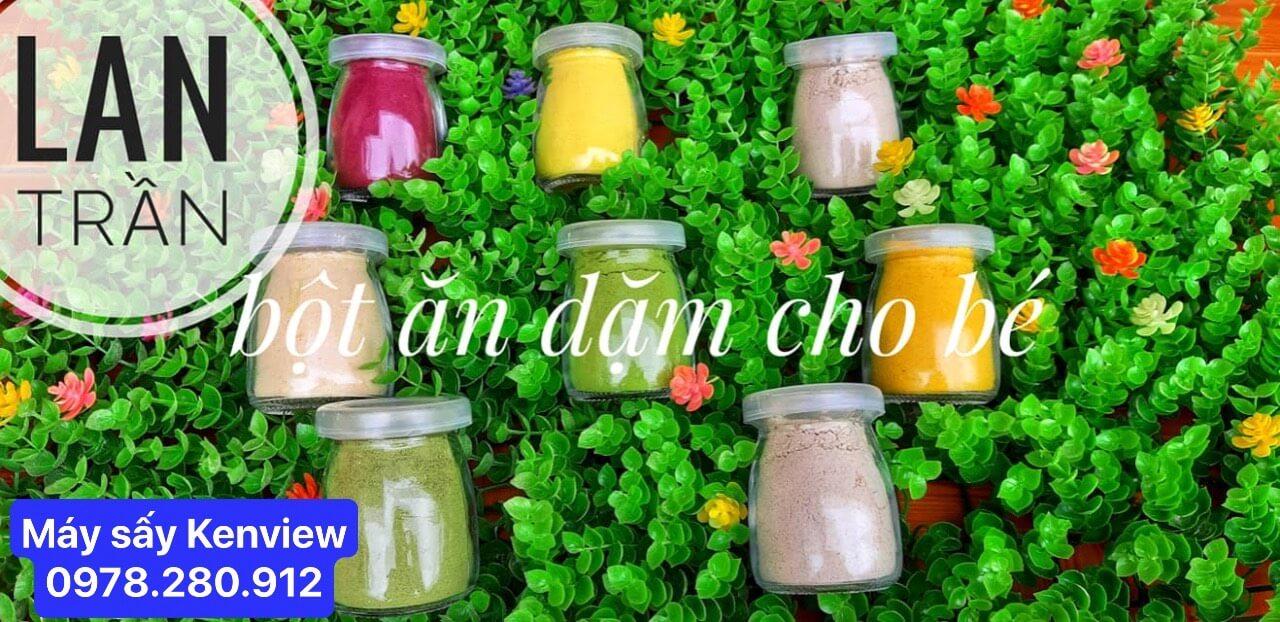 Tinh bột rau củ quả bên Chị Lan- Cơ sở sản xuất Trần Lan Quảng Trị