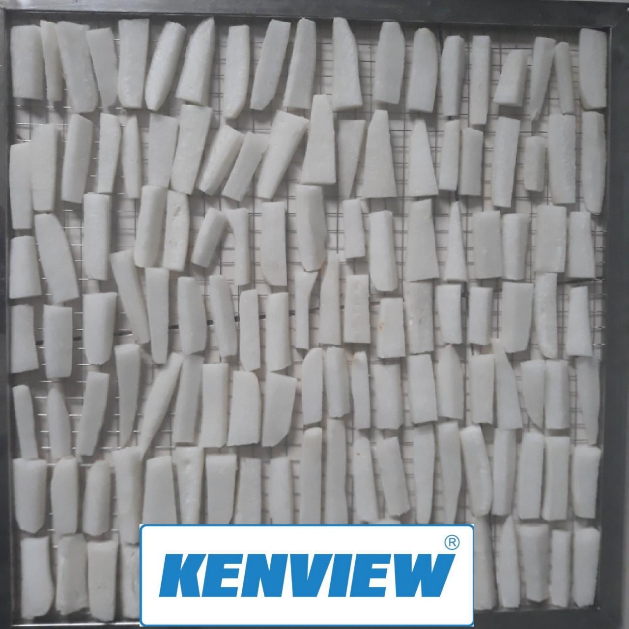 Củ cải trắng sấy khô bằng máy sấy đa năng kenview