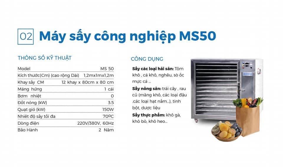 máy sấy cá khô ms 50