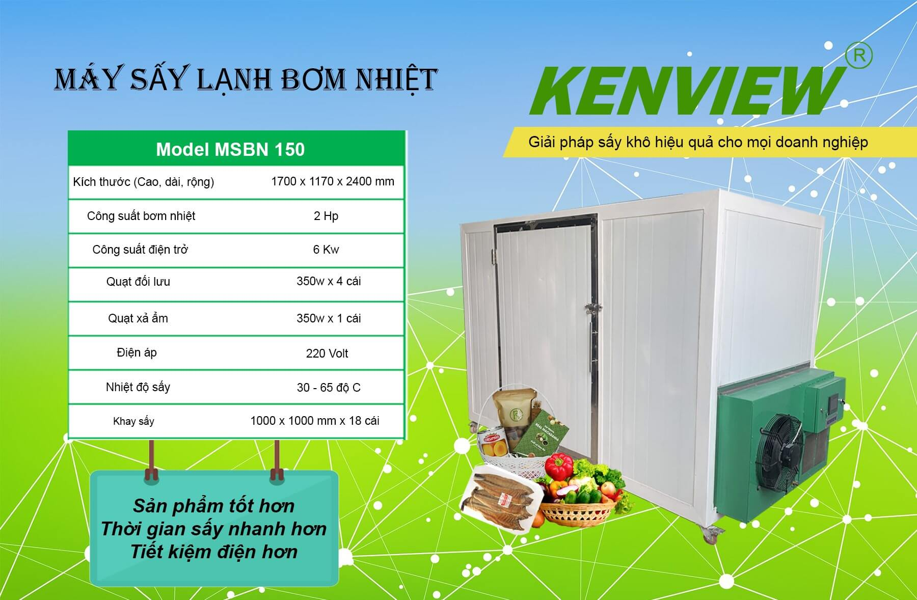 Máy sấy lạnh bơm nhiệt MSL150