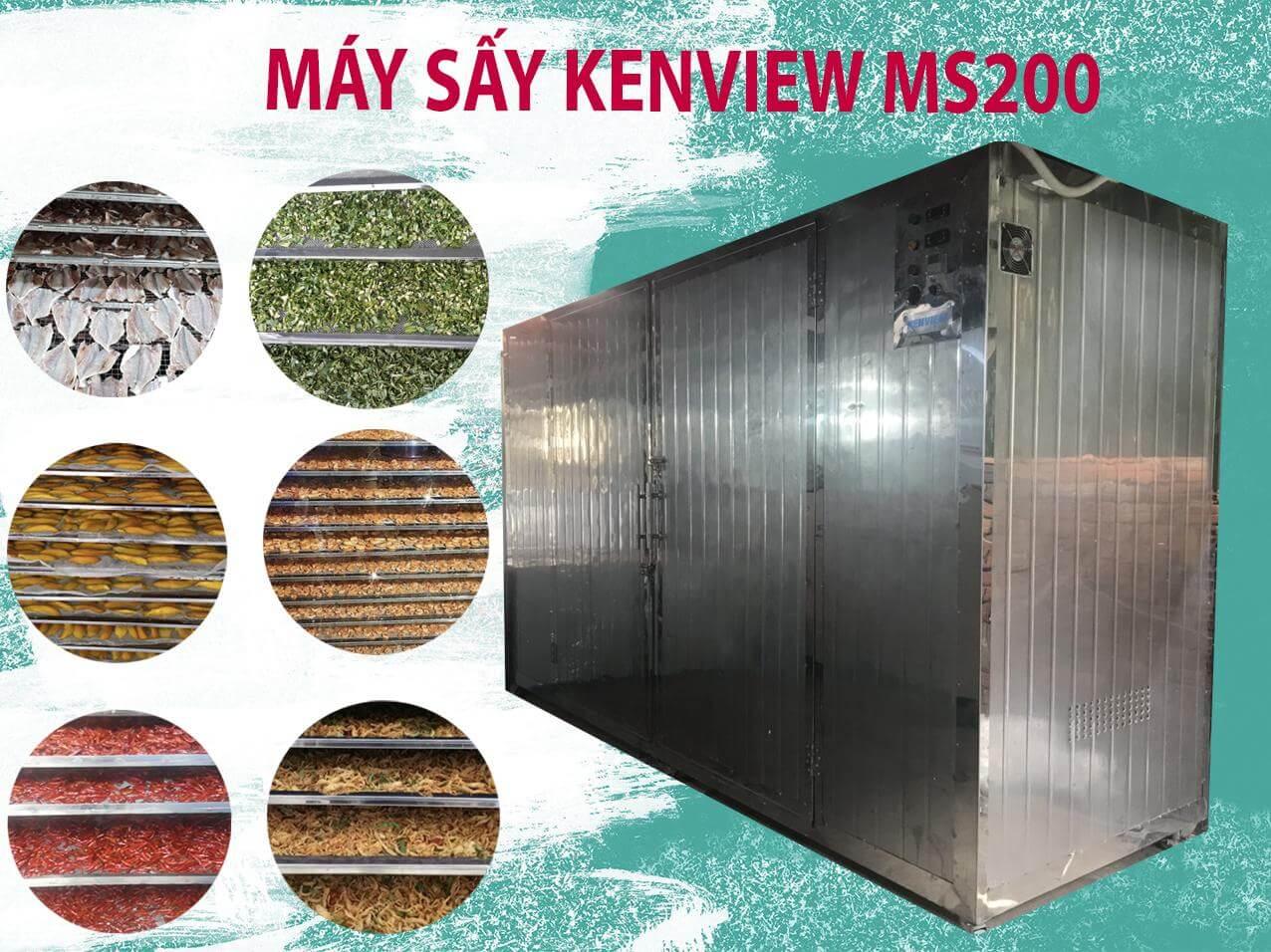 Máy sấy Kenview ms200- Thiết kế 100% inox 304