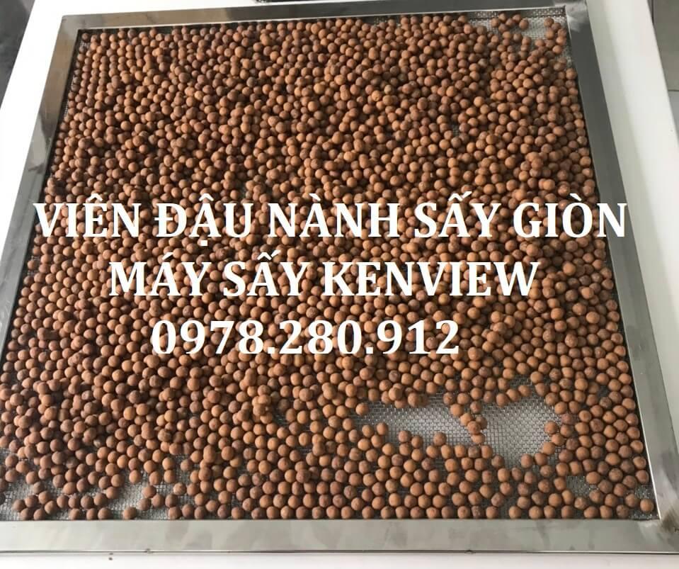 Viên mầm đậu nành sấy khô bằng máy sấy Kenview