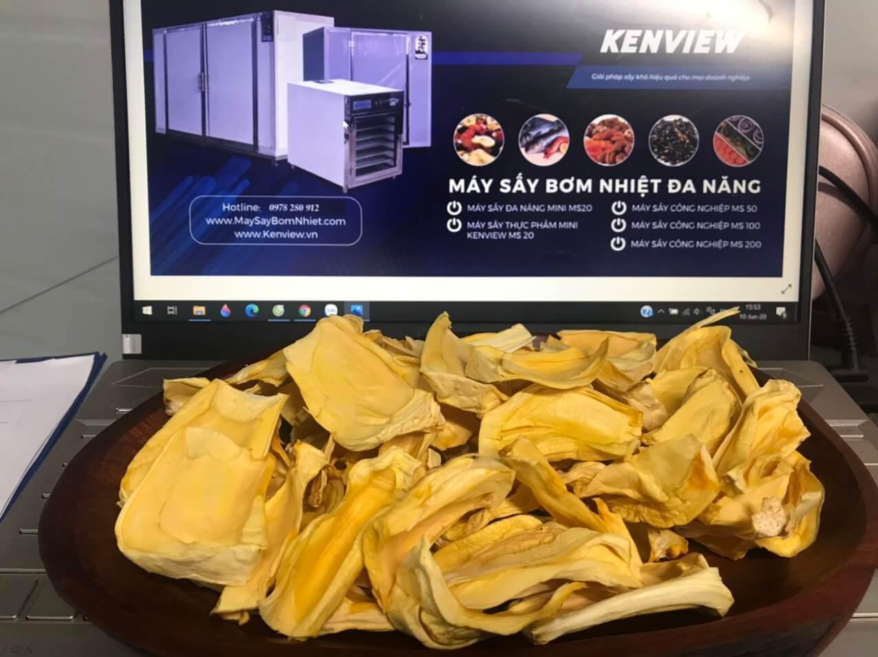 mít sấy giòn trong 4h bằng máy sấy hoa quả Kenview