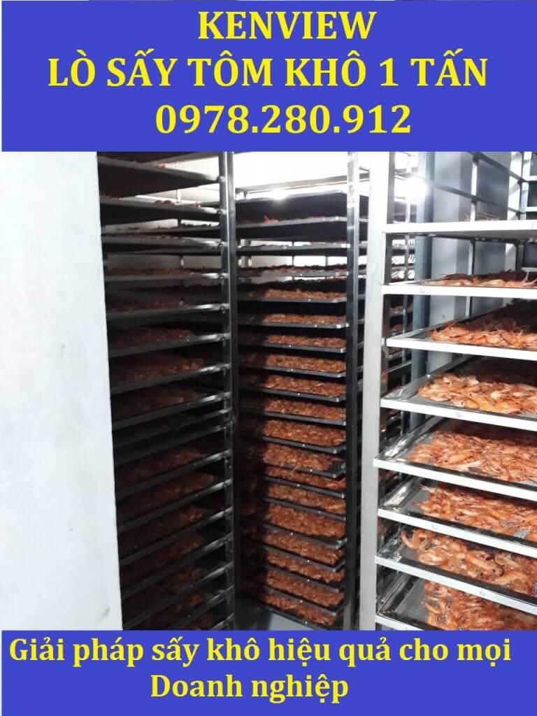 Lò sấy hải sản